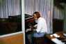 401 - david sylvian during tin drum sessions, the manor studios